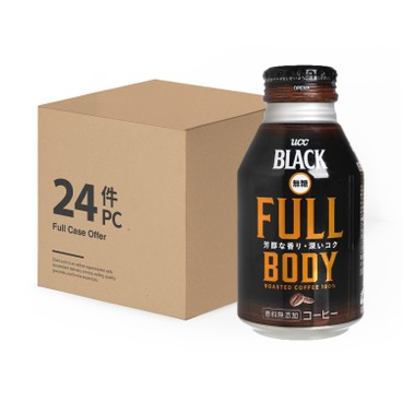 UCC - Full Body Sugar Free Black Coffee Full Case - 275MLX24