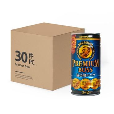 三得利 - PREMIUM BOSS 咖啡 - 原箱 - 185MLX30