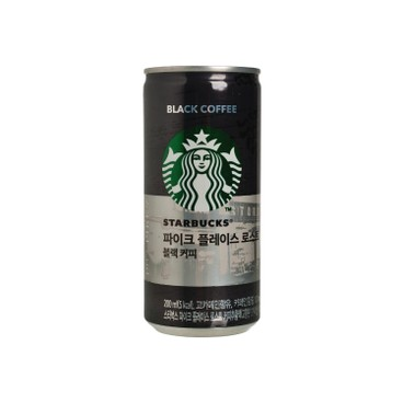 STARBUCKS - Pike Place Roast Black Coffee - 200MLX3