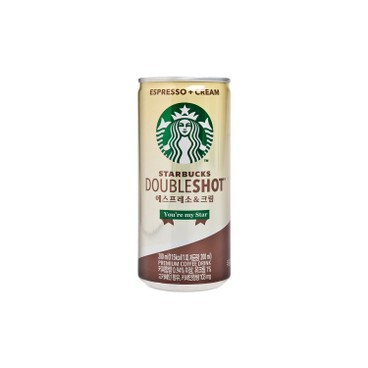 STARBUCKS - Double Shot Espresso Cream - 200MLX3