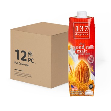 137 DEGREES - 杏仁奶-麥芽-原箱 - 1LX12
