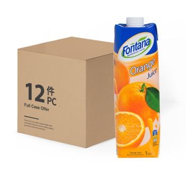 FONTANA - Orange Juice case Deal - 1LX12