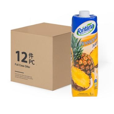 FONTANA - Pineapple Juice case Deal - 1LX12
