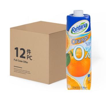 FONTANA - Orange Juice No Sugar case Deal - 1LX12