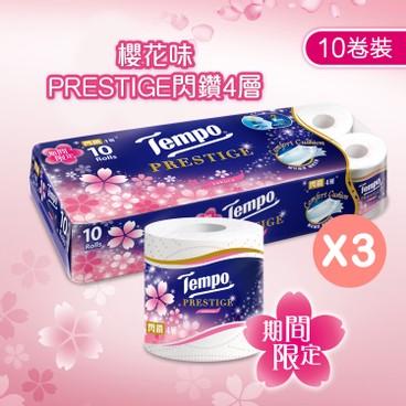 TEMPO - Prestige 4 ply Bathroom Tissue Sakura Limited Edition 3 pc - 10'SX3