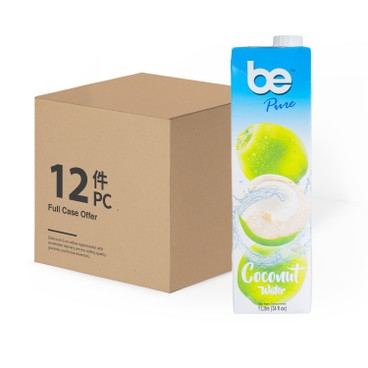 Be - Pure 100 Coconut Water case Deal - 1LX12