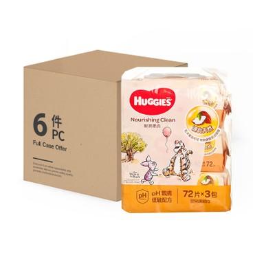 HUGGIES - 輕潤柔膚嬰兒濕紙巾 - 72'SX3X6
