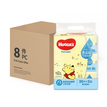 HUGGIES - 純水嬰兒濕紙巾 - 30'SX3X8