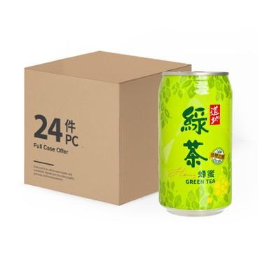 道地 - 蜂蜜綠茶(罐裝)-原箱 - 340MLX24