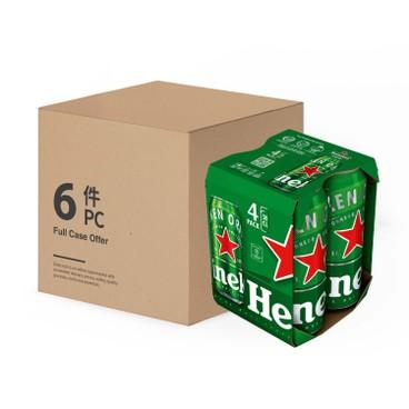 喜力 - 啤酒(巨罐裝) - 原箱 - 500MLX4X6