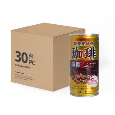 新加利亞 - 備長炭焙煎微糖咖啡-原箱 - 185MLX30