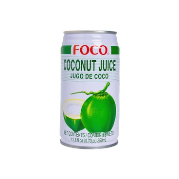 FOCO - Coconut Water With Coconut Meat - 350MLX3
