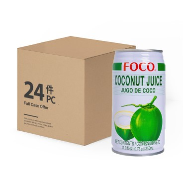 FOCO - Coconut Water With Coconut Meat Case Offer - 350MLX24