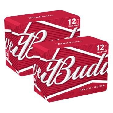 BUDWEISER - Beer Case Offer - 330MLX12X2