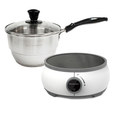 PATAHTECH - MARS MINI INDUCTION COOKER+304 STAINLESS STEEL SINGLE HANDLE POT (WITH LID & STEAM PLATE) - SET