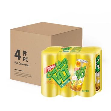 VITA - Sparkling Lemon Tea cans Case Offer - 310MLX6X4