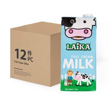 Laika - Uht Full Cream Milk Case Offer - 1LX12