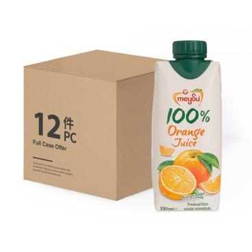 MEYSU - 100% ORANGE JUICE - CASE OFFER - 300MLX12
