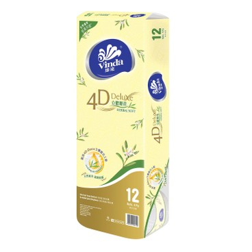 VINDA - 4 d deluxe Toilet Roll 4 ply Herbal Soft 3 pc - 12'SX3