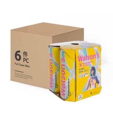 屈臣氏 - X Soda 椰林飄香酒精風味蘇打水-原箱 - 265MLX4X6