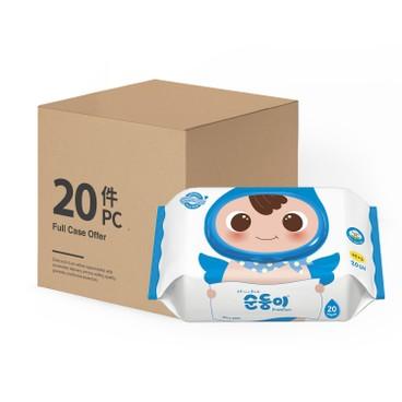 順順兒 - 高級無香嬰兒濕紙巾-20件裝 - 20'SX20