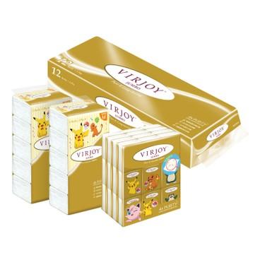 VIRJOY - JUMBO COMBO (TOILET TISSUE+SOFT PACK M+HANKY) - 12'S+5'SX2+36'S