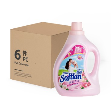 SOFTLAN - ULTRA CONCENTRATED FABRIC SOFTENER FLORAL - 6PCS - 1LX6