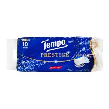 TEMPO - PRESTIGE PRINTED BATHROOM TISSUE 4 PLY-NEUTRAL-6PC - 10'SX6