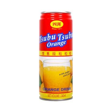 FOUR SEAS - TSUBU TSUBU ORANGE DRINK - 240MLX4