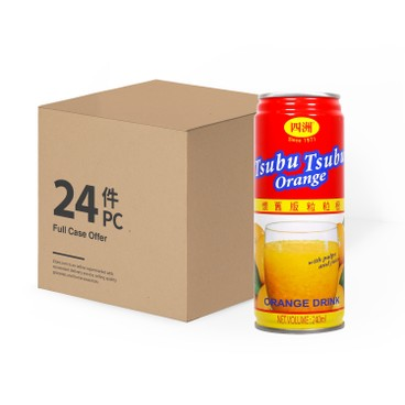 FOUR SEAS - TSUBU TSUBU ORANGE DRINK-CASE OFFER - 240MLX24