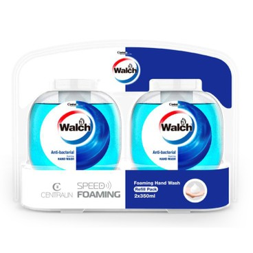 WALCH - ANTIBACTERIAL FOAMING HAND WASH REFILL FOR AUTOMATIC DISPENSER -REFRESHING-8PCS - 350MLX2X8