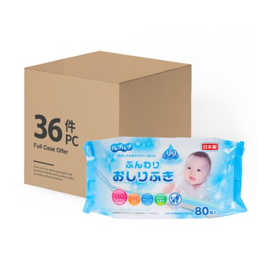 LIFE-DO.PLUS - 99% PURE WATER BABY WIPES WITH MILKY LOTION-12PC CASE - 80'SX3X12