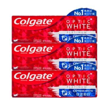 COLGATE - OPTIC WHITE-EXPRESS WHITE TOOTHPASTE-3PCS - 85GX3