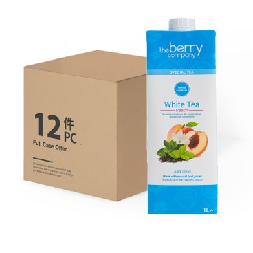 THE BERRY CO.(PARALLEL IMPORT) - WHITE TEA AND PEACH-CASE OFFER - 1LX12