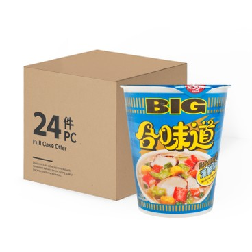 NISSIN - Big Cup Noodle seafood - 100GX24