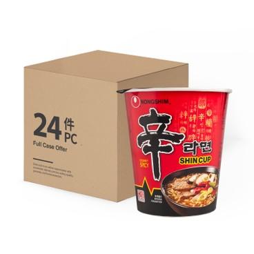 農心 - 杯麵-辛辣麵(特辣香菇味)-原箱 - 65GX24