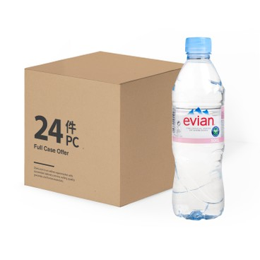 EVIAN(PARALLEL IMPORT) - Natural Mineral Water - 500MLX24