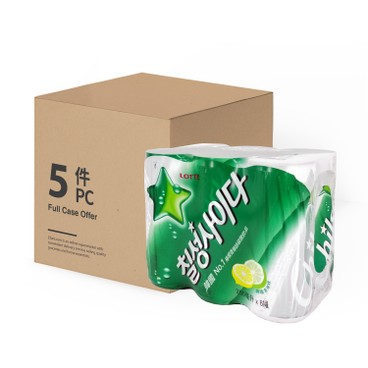 LOTTE - CHILSUNG CIDER - 250MLX6X5