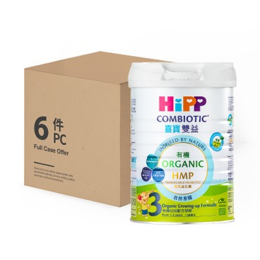 HIPP - 3 Junior Combiotic Growing up Milk - 800GX6