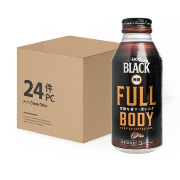 UCC - Full Body Sugar Free Black Coffee - 375MLX24
