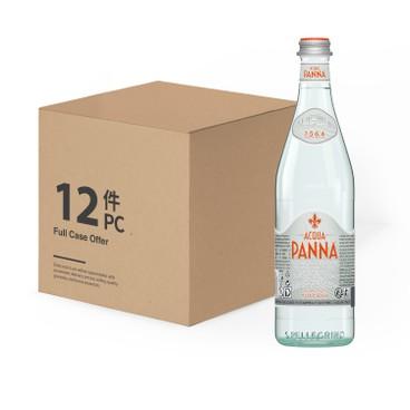 ACQUA PANNA - 天然礦泉水(玻璃樽)-原箱 - 750MLX12
