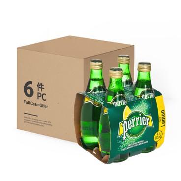 PERRIER(PARALLEL IMPORT) - Sparkling Mineral Water Twist Lemon - 330MLX4X6