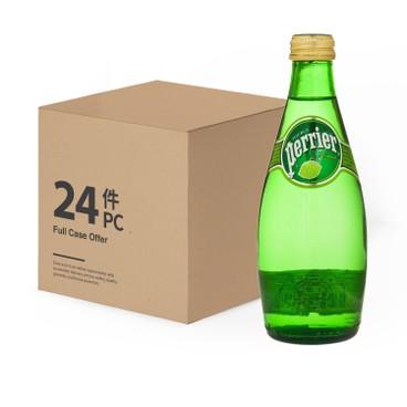 PERRIER 法國巴黎礦泉水 (平行進口) - 有汽礦泉水-青檸味-原箱 - 330MLX4X6