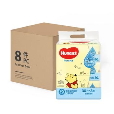 HUGGIES - 純水嬰兒濕紙巾 - 原箱 - 30'SX3X8