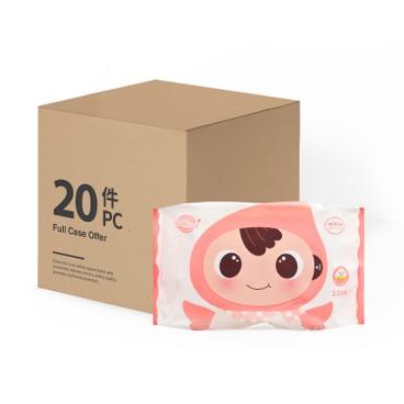 順順兒 - 原箱 無香嬰兒濕紙巾 - 20'SX20