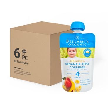 貝拉米 - 有機香蕉蘋果粥-原箱 - 120GX6