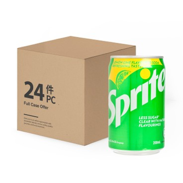 SPRITE - Lime Flavoured Soda Mini Can case - 200MLX24