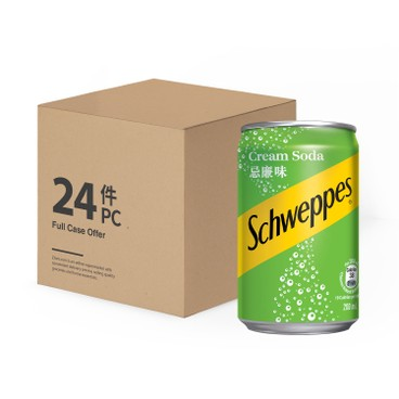 SCHWEPPES - Cream Soda Mini Can Case - 200MLX24