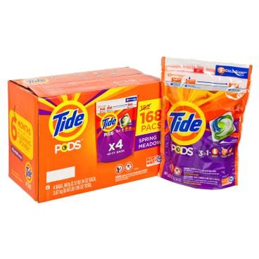 TIDE - 柔順洗衣球168粒(四包裝) - 168'S