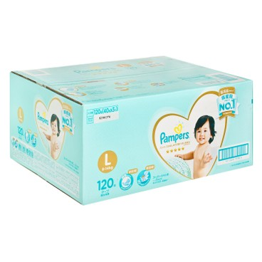 PAMPERS幫寶適 - 日本進口一級幫紙尿片(大碼) - 箱裝 - 120'S